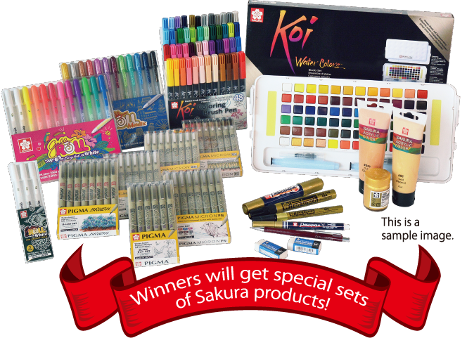 Winners will get special sets of Sakura products!