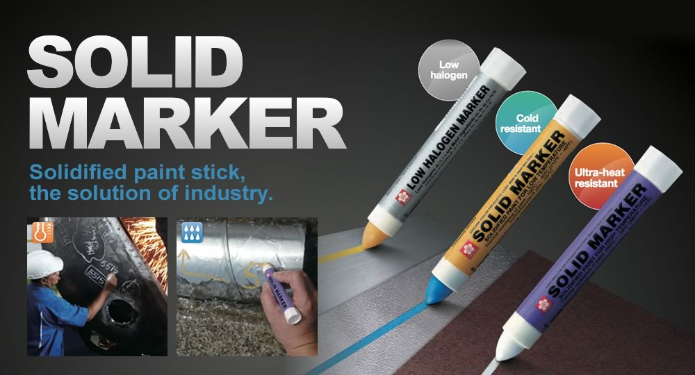 SOLID MARKER Solidified paint stick, the solution of industry.