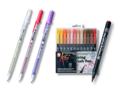 Koi Coloring Brush Pen & Gelly Roll