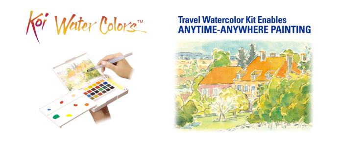 Koi Water Colors Pocket Field Sketch Box