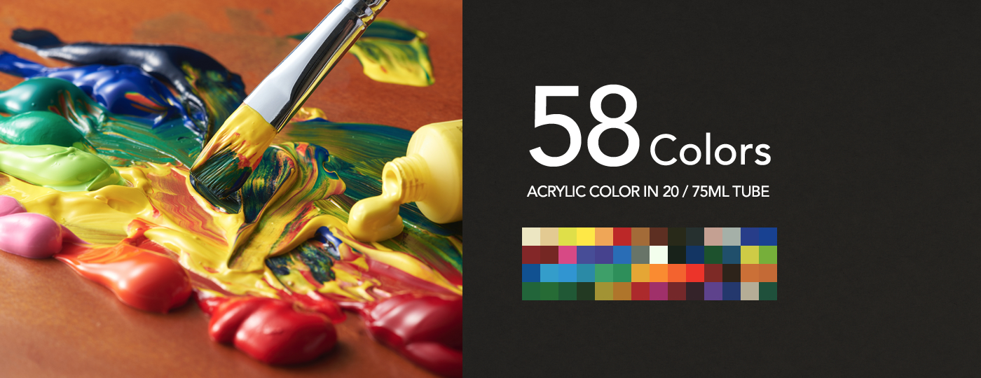 ACRYLIC COLOR IN 20ML/75ML TUBE