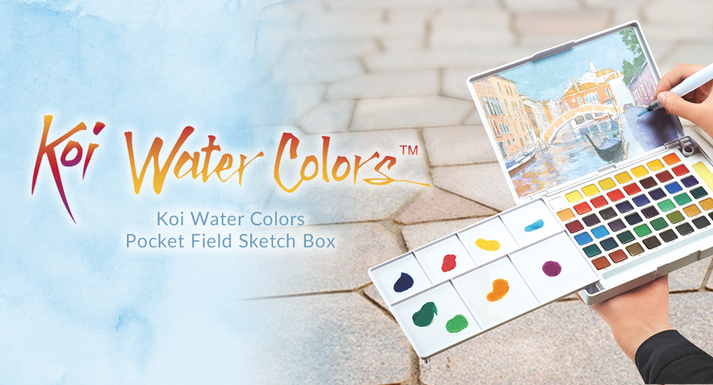 KOI WATER COLORS POCKET FIELD SKETCH BOX