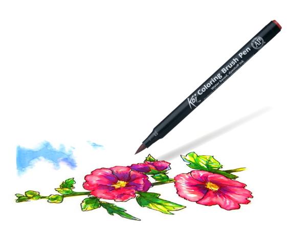 Koi Coloring Brush Pen example