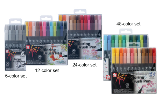 KOI COLORING BRUSH PEN|SAKURA COLOR PRODUCTS CORP.