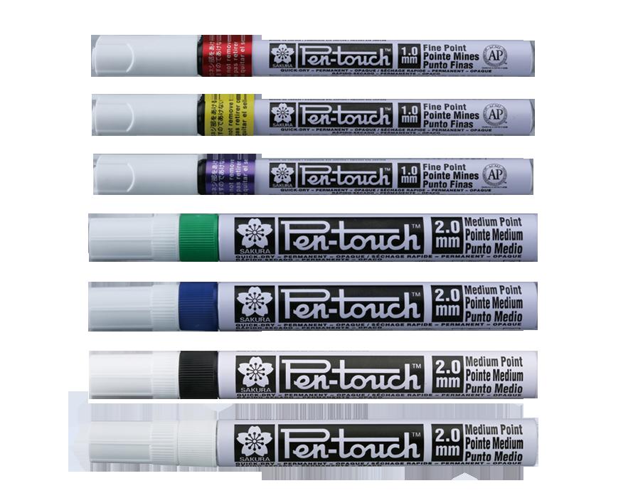 White 2.0mm Med 2 each 42500 New! Sakura Pen Touch Paint Marker