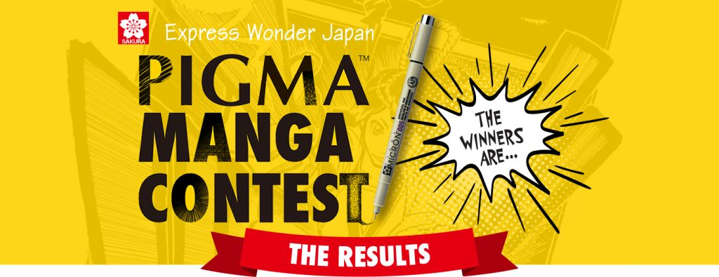 The Results Of Pigma Manga Contest 2017 Sakura Color